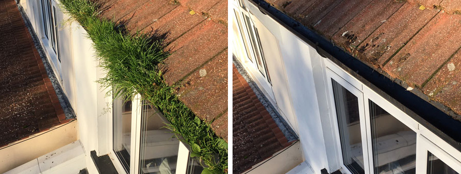 Gutter clearance services West Sussex